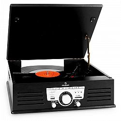 Auna 77 - 92B gramofon, USB , SD , AUX , FM , černý