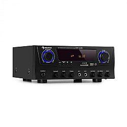 Auna Amp-2 BT, HiFi zesilovač, 2 x 50 W, BT, USB, SD, 2 x mikrofonní vstup, FM rádio turner, černý