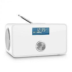 Auna DABStep, bílé DAB/DAB+ digitální rádio, bluetooth, FM, RDS, budík
