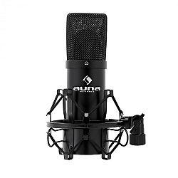 Auna MIC 900B USB kondenzátorový mikrofon, černý, kardoidní,