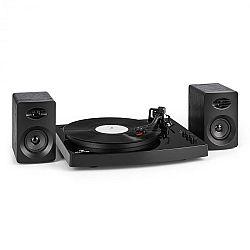 """Auna TT-Play gramofon, 2 stereo reproduktory (3 """"/ 10 W) bt 33 1/3 a 45 otáček / min, černá barva"""