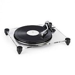 Auna TT-Pure, gramofon, akrylové sklo, 33 1/3, 45 ot/min., předzesilovač