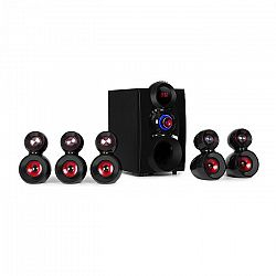 Auna X-Gaming, 5.1 surround zvukový systém, 380 W max., OneSide subwoofer, BT, USB, SD