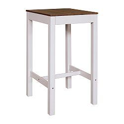 Barový stůl TORINO bílý/hnědý