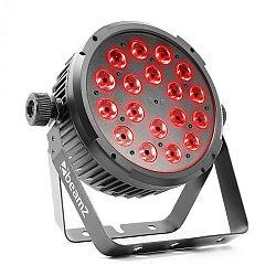 Beamz BeamZ BT320 LED Flat Par, LED reflektor, 18x 6W 4v1 LED diod S RGBW, dálkové ovládání