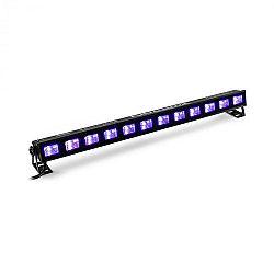 Beamz BUVW123, LED světelná rampa, 30 W, 8 x 3 W UV/WW 2 v 1 LED diody, černá