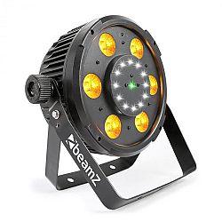Beamz BX100 PAR, LED reflektor, 6x6 W, 4-v-1-RGBW-LEDek, 12x Strobe-LEDek, RG-Laser