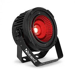 Beamz COB50, LED světlomet, DMX/Standalone modus, 9 kanálů DMX, černý
