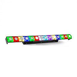 Beamz LCB14 LED lišta, 14x 3 W bílé a 56x SMD RGB LEDky, černá