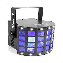 Beamz LED Butterfly 3x3W RGB + 14xSMD Strobe, režim ovládání pomocí hudby nebo automatický režim