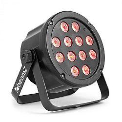 Beamz SlimPar 35, LED světelný zářič, 12x 3W 3 v 1 RGB LED diody, DMX / Stand-alone, černá