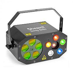 Beamz Sway Gobo Laser Gobo RGBW, Strobe RGBW a Laser RG, dálkové ovládání
