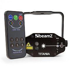 Beamz Titania Double Laser 200mW RG Gobo, laserová třída 3B, IR-dálkové ovládání