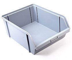 Bedna ukládací zkosená Alfa Plastik - 40kg šedá