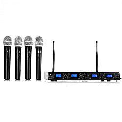 Bezdrátový mikrofonní set Malone UHF-550 Quartett1, 4 kanály