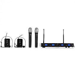 Bezdrátový mikrofonní set Malone UHF-550 Quartett3, 4 kanály