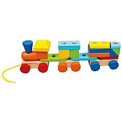 Bino Barevný vláček se dvěma vagóny