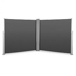 Blumfeldt Bari Doppio 618, dvojitá boční markýza, 6 x 1.8 m, hliník, antracitová