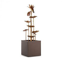Blumfeldt Golden Orchid, zahradní fontána, pumpa 5 W, IPX8, mosazný vzhled