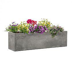 Blumfeldt Solidflor, květináč, 75 x 20 x 20 cm, sklolaminát, do interiéru i exteriéru, světle šedý