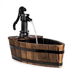 Blumfeldt Starnberg, zahradní studna, 12 W, litinová ruční pumpa, dřevo, hnědá
