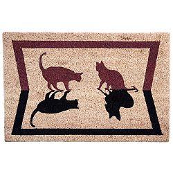 BO-MA Kokosová rohožka Kočky stín, 40 x 60 cm