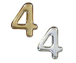 Číslice domovní logoprint samolepicí - 37mm stříbrný