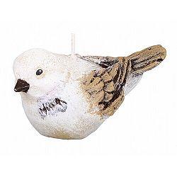 Dekorativní svíčka ptáček, béžová