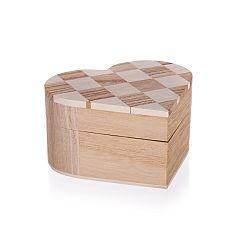 Dřevěná krabička Chess, 10,7 x 10 x 6 cm