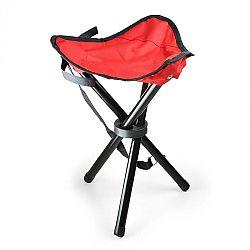 DURAMAXX Přenosná kempovací židle, rybářská stolička, červeno-černá,