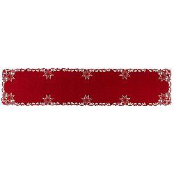 Forbyt Vánoční vyšívaný ubrus Hvězdy červená
