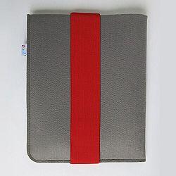Frágil pouzdro na iPad 21 x 26 cm s červenou gumičkou