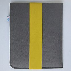Frágil pouzdro na iPad 21 x 26 cm se žlutou gumičkou