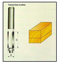 Fréza tvarová do dřeva F10 -  12x19mm