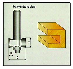 Fréza tvarová do dřeva F12 -  9,4x8mm