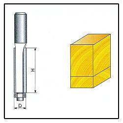 Fréza tvarová do dřeva F13 -  8x9x38mm