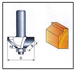 Fréza tvarová do dřeva F15 -  8x15,9mm
