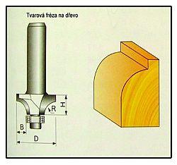 Fréza tvarová do dřeva F16 -  9,52x9,52x16mm