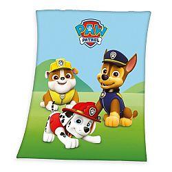 Herding Dětská deka Tlapková Patrola Rubble, Marshall a Chase, 130 x 160 cm