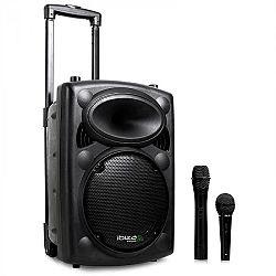 Ibiza Port10VHF-N, mobilní PA-reproduktor, baterie, kolečká, bluetooth, USB, SD