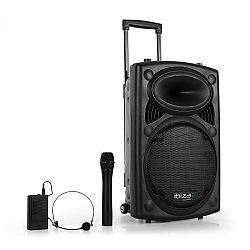 "Ibiza Port12VHF-BT 30 cm (12 ""), PA systém s USB, SD, AUX, MP3, bluetooth"