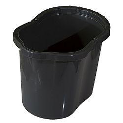 Kbelík oválný 13 litrů, šedá
