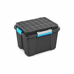 KIS Plastový úložný box - Scuba Box M 43 L modré zavírání