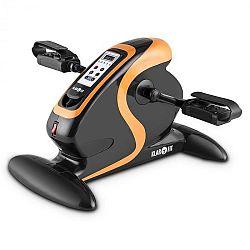 KLARFIT Cycloon Mini Bike, pohybový trenér, motor, 120 kg, dálkové ovládání, černý
