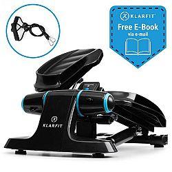KLARFIT Galaxy Step, mini stepper, prémiové nášlapné plochy, LCD displej, černý/modrý