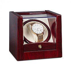 Klarstein Cannes, pohyblivý stojan na hodinky, 1 hodinky, otáčení ve směru a protisměru pohybu hodinových ručiček, 2160 ot./den, palisandrový vzhled