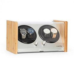 Klarstein Hanoi 4, natahovač hodinek, 4 kusy hodinek, 3 rychlosti, 4 režimy, bambus