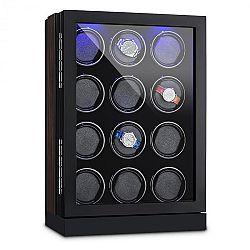 Klarstein Klagenfurt, pohyblivý stojan na hodinky, pohyb vpravo-vlevo, 12 hodinek, LED, dotykový displej