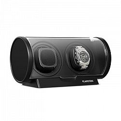 Klarstein Lugano otáčecí kazeta na hodinky, plast, 2 ks hodinek, 4 režimy, černá barva