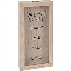 Koopman Dřevěná dekorace Wine Scale, 30 x 15 cm